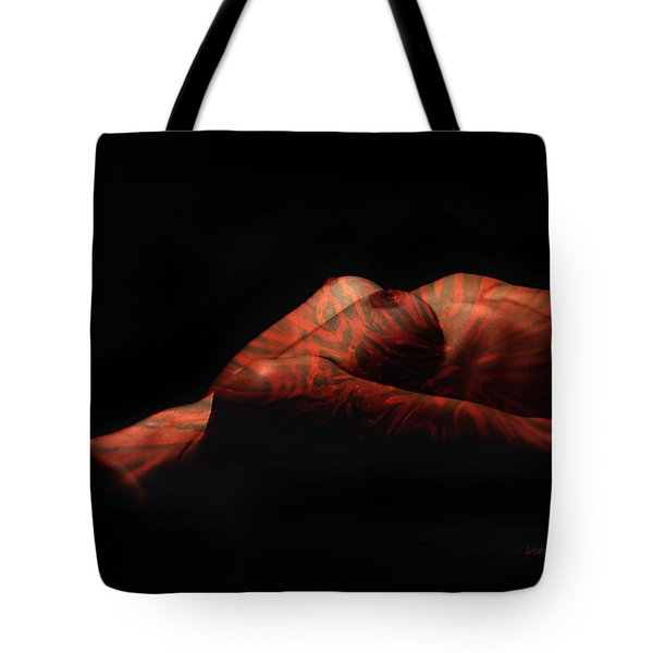 Artistic Crucifiction Tote Bag by Donna Blackhall