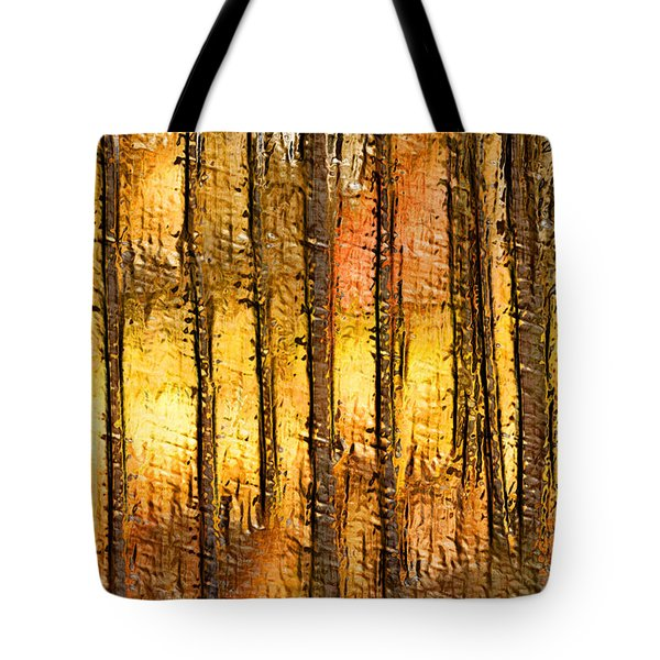 Artistic Fall Forest Abstract Tote Bag