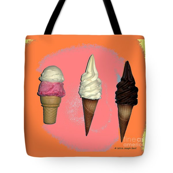 Artistic Ice Cream Tote Bag