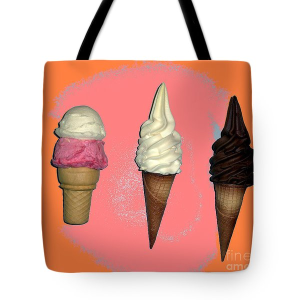 Artistic Ice Cream Tote Bag