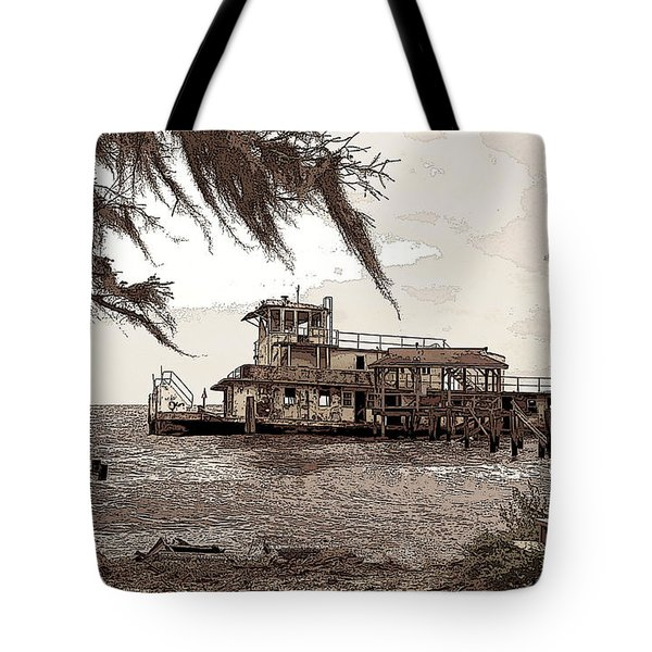 Tugboat From Louisiana Katrina Tote Bag