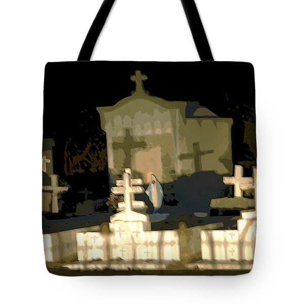 Tote Bag featuring the photograph Louisiana Midnight Cemetery Lacombe by Luana K Perez