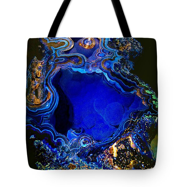 Artists Bisbee Velvet Beauty Azurite Tote Bag