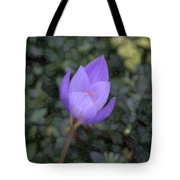 Purple Flower Tote Bag by John Freidenberg