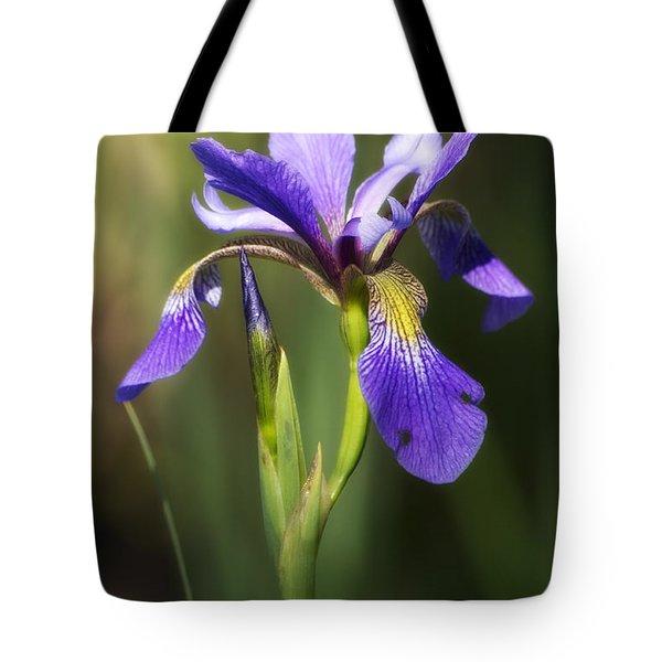 Artsy Iris Tote Bag by Shelly Gunderson