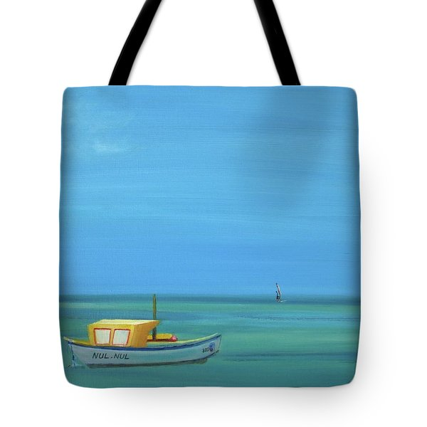 Tote Bag featuring the painting Aruba by Donna Tuten