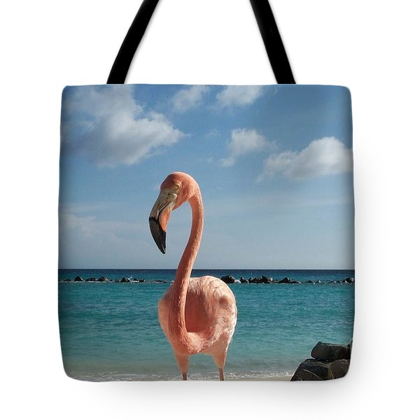 Tote Bag featuring the photograph Aruba Hairy Eyeball by HEVi FineArt