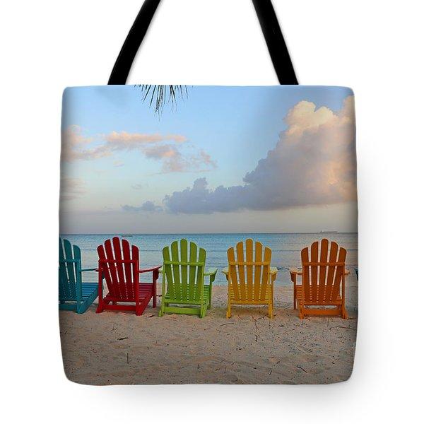 Aruba Sunrise 0746a Tote Bag