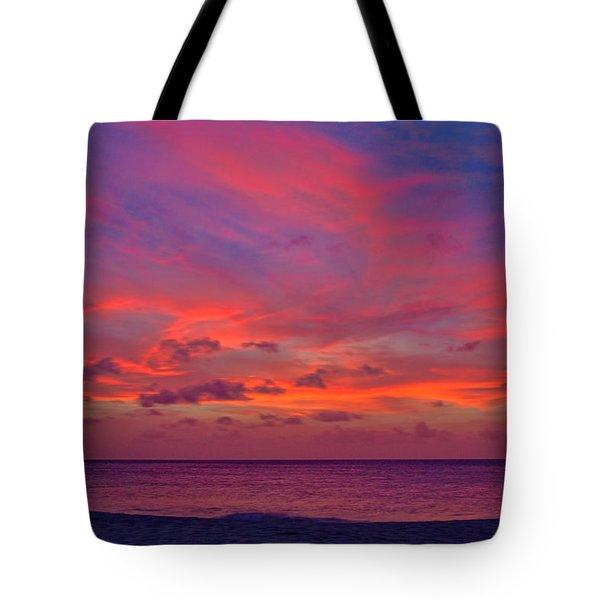 Aruba Sunset Tote Bag