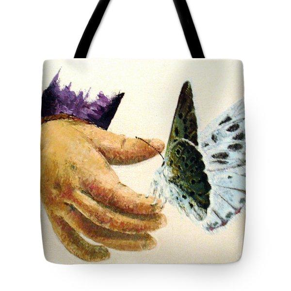As Delicate As A Butterfly  Tote Bag by Tatjana Popovska