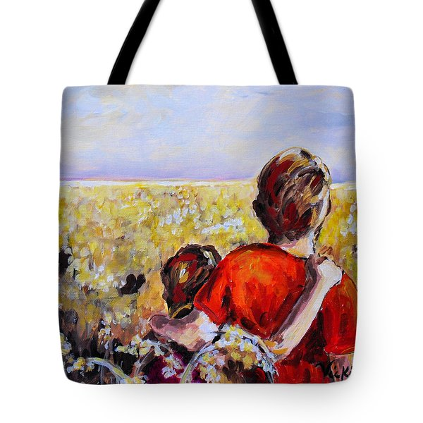 As Far As The Eye Can See Tote Bag by Vickie Warner