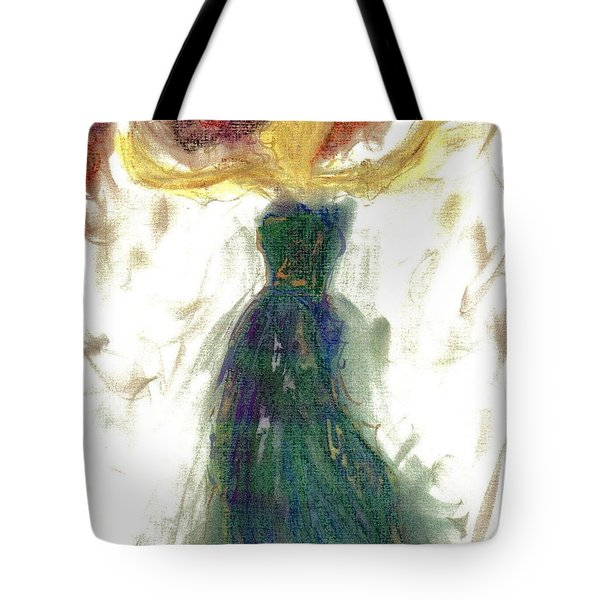 Tote Bag featuring the painting as if Dancing in Heaven by Lesley Fletcher