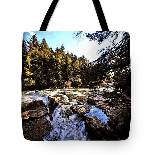 As Lawrence Welk Used To Say-ah Waterfall Waterfall Tote Bag
