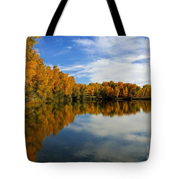 As The Leaves Turn Tote Bag by Bob Hislop
