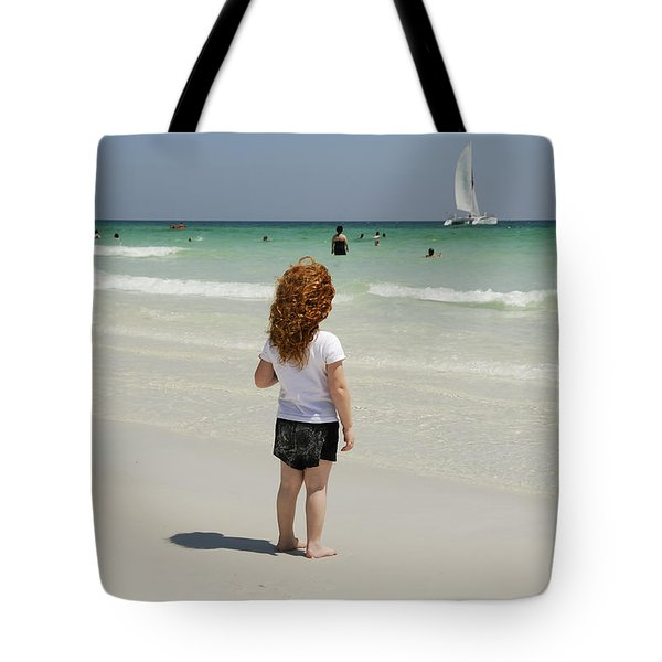 As The Sail Boat Rolls By Tote Bag