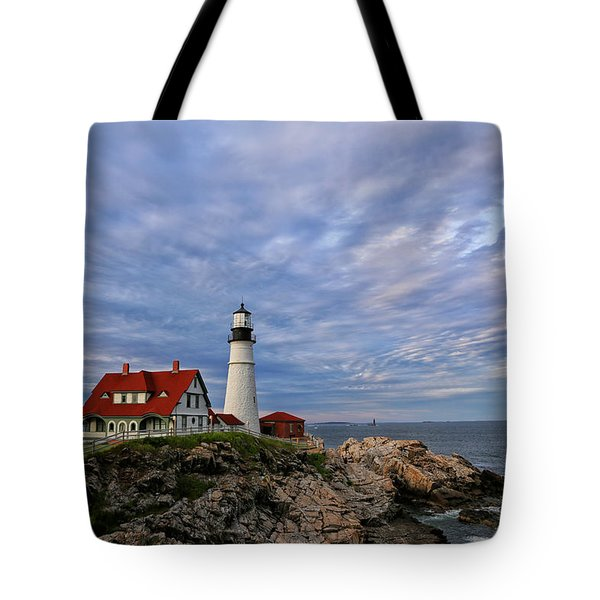 As The Sky Reaches The Water Tote Bag