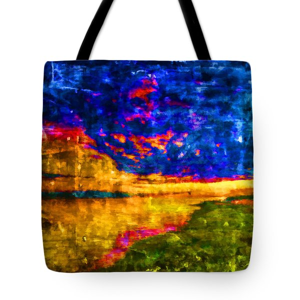 Tote Bag featuring the painting As The World Ends by Joe Misrasi