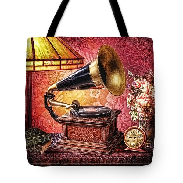 As Time Goes By Tote Bag by Mo T