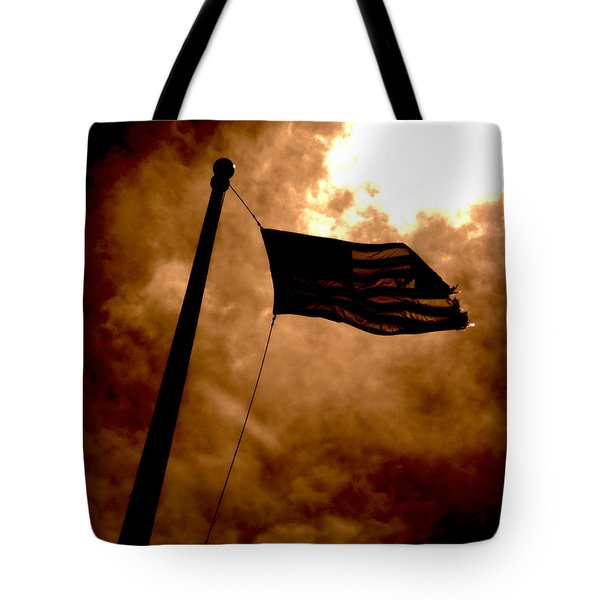 Ascend From Darkness Tote Bag