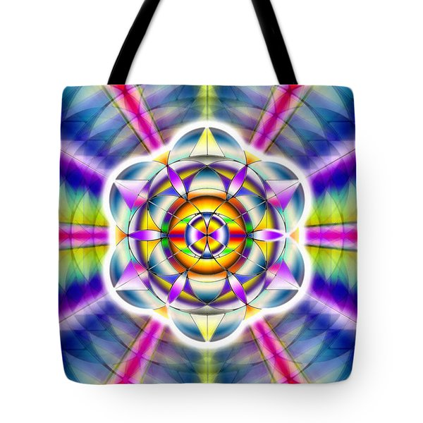 Tote Bag featuring the drawing Ascending Eye Of Spirit by Derek Gedney