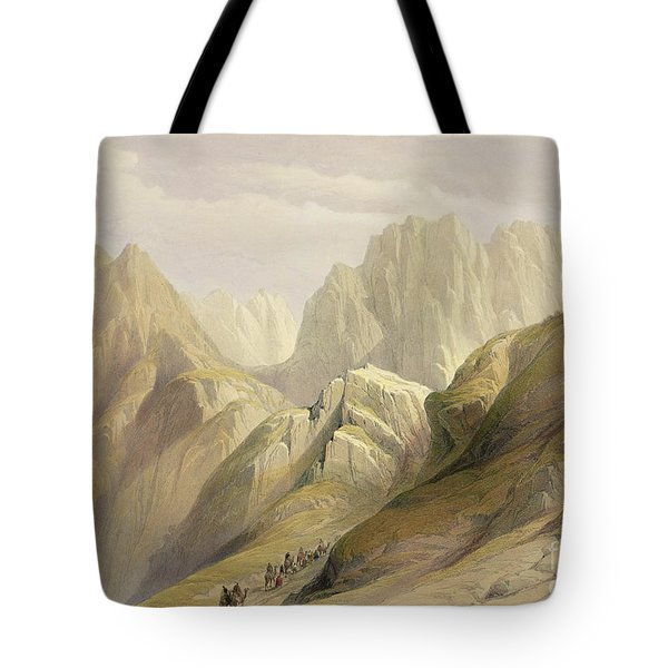 Ascent Of The Lower Range Of Sinai Tote Bag