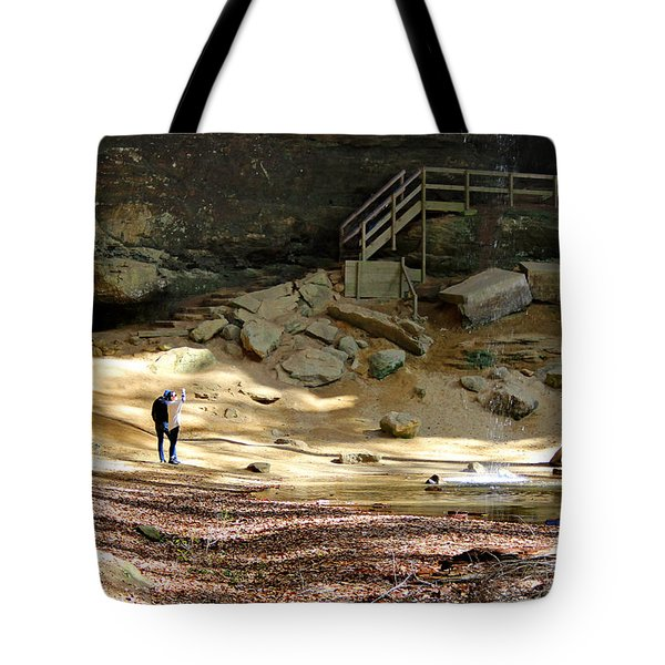 Ash Cave In Hocking Hills Tote Bag