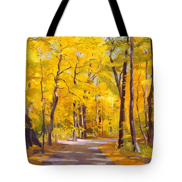 Ash Trees At Fall In The Morton Arboretum Tote Bag