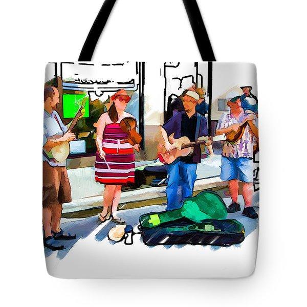 Asheville Buskers Tote Bag