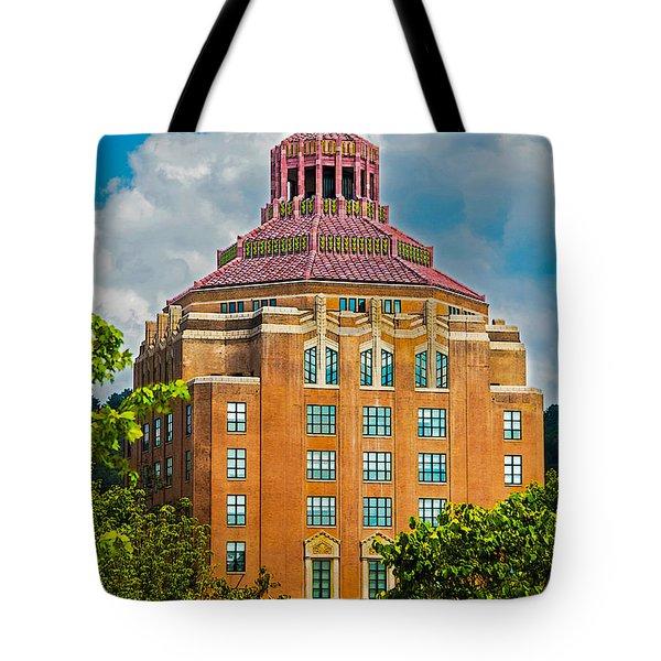Asheville City Hall Tote Bag by John Haldane