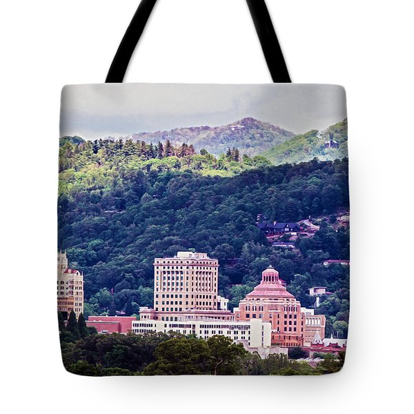 Asheville Painted Tote Bag by John Haldane