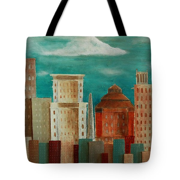 Asheville Skyline Tote Bag