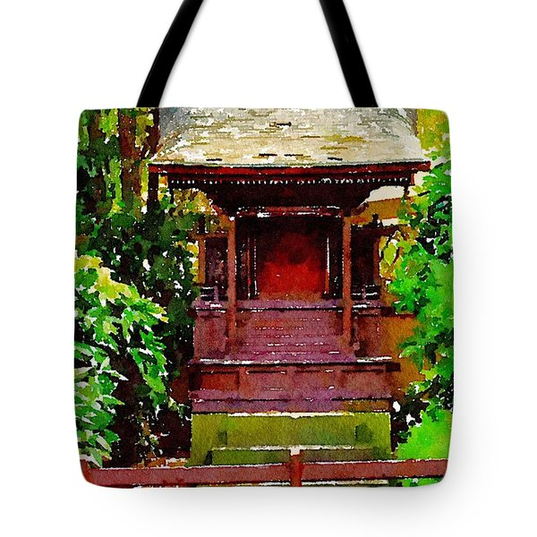 Asian Temple Tote Bag by Daniel Precht
