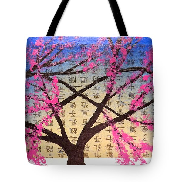 Asian Bloom  Tote Bag