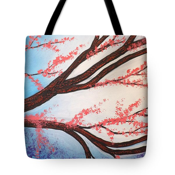 Asian Bloom Triptych 2 Tote Bag