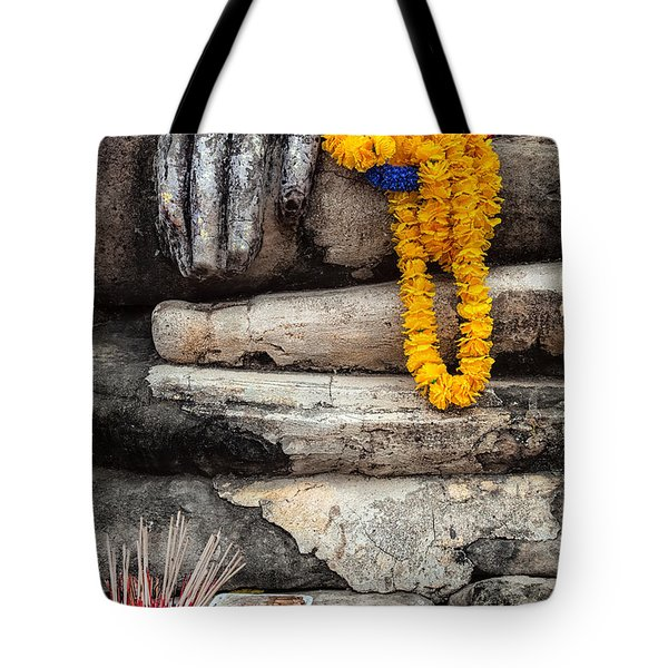Tote Bag featuring the photograph Asian Buddhism by Adrian Evans