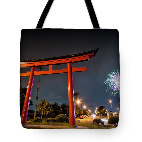 Tote Bag featuring the photograph Asian Fireworks by John Swartz