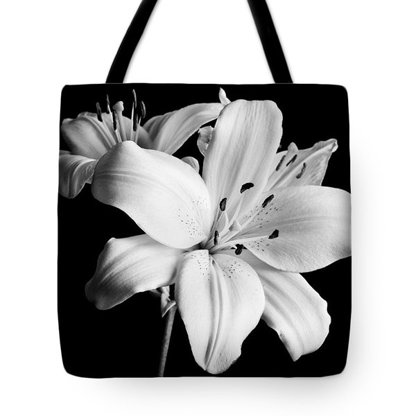 Asian Lilies 1 Tote Bag by Sebastian Musial