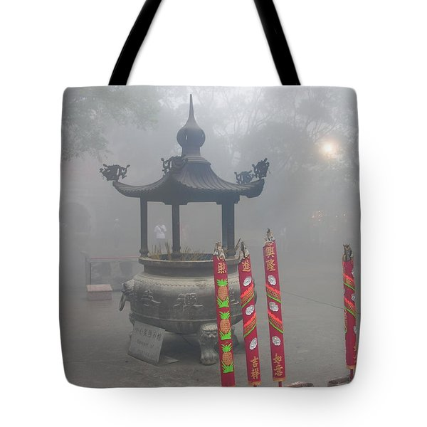 Tote Bag featuring the photograph Asian Mornining In Lantau China by Jacqueline M Lewis