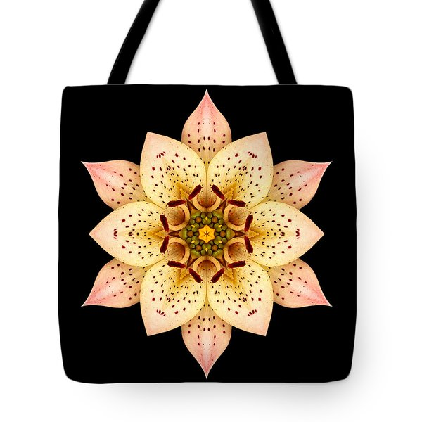 Asiatic Lily Flower Mandala Tote Bag