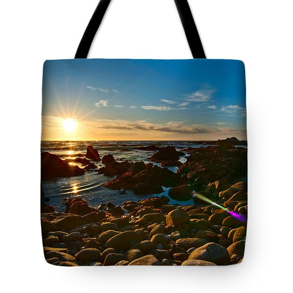 Asilomar Sunset - Monterey Bay Tote Bag