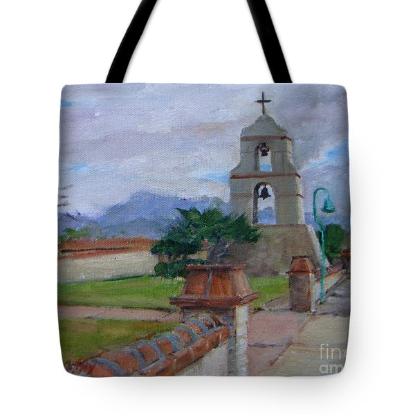 Asistencia On A Cloudy Day Tote Bag