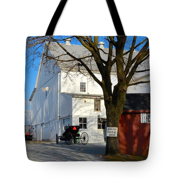 Ask For Eggs At House. Tote Bag