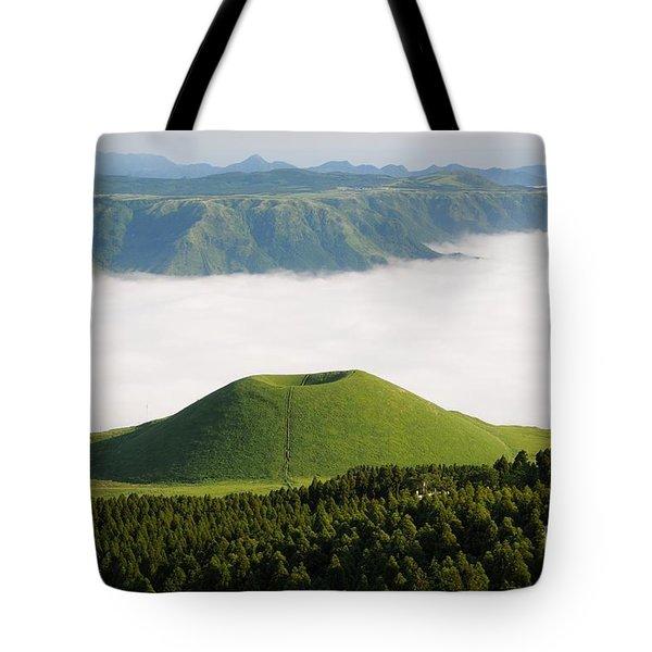 Tote Bag featuring the photograph Aso Komezuka Sea Of Clouds Cloud Kumamoto Japan by Paul Fearn