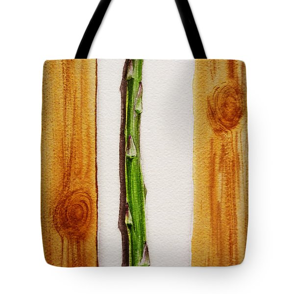Asparagus Tasty Botanical Study Tote Bag by Irina Sztukowski