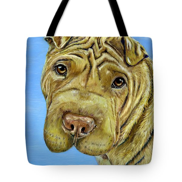 Beautiful Shar-pei Dog Portrait Tote Bag