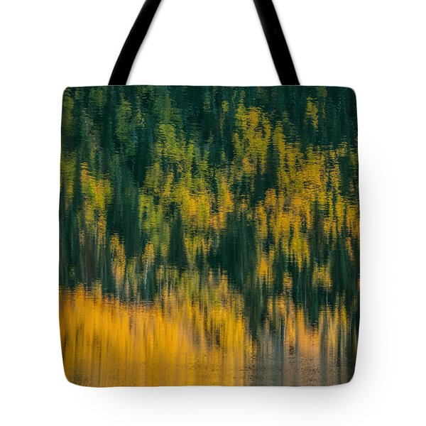 Tote Bag featuring the photograph Aspen Abstract by Ken Smith