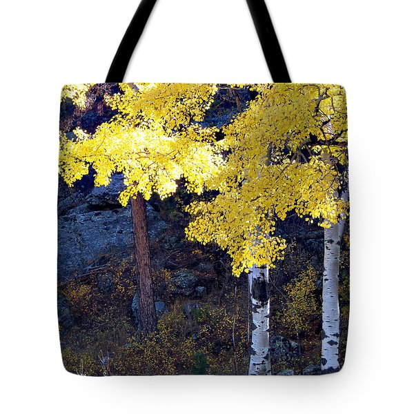 Aspen Bright Tote Bag by Linda Cox