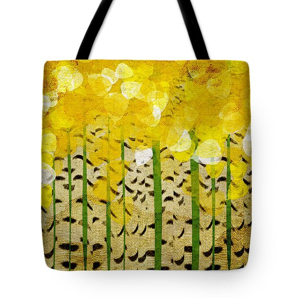 Aspen Colorado Abstract Panorama Tote Bag