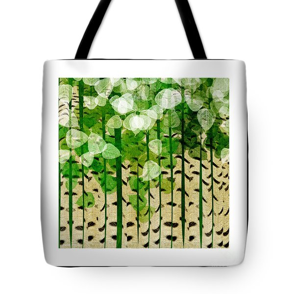 Aspen Colorado Abstract Square 2 Tote Bag