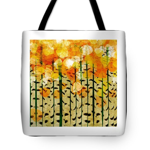 Aspen Colorado Abstract Square 4 Tote Bag